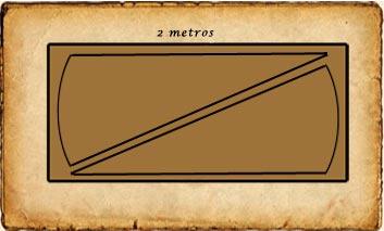 capa medieval con poca tela